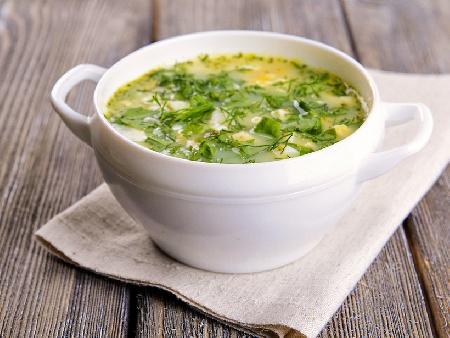 Супа с лапад или киселец, картофи, заквасена сметана и извара - снимка на рецептата